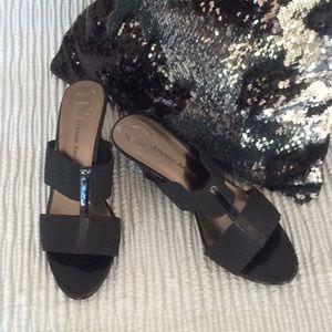 Ladies Etienne Aigner black wedges-size 9